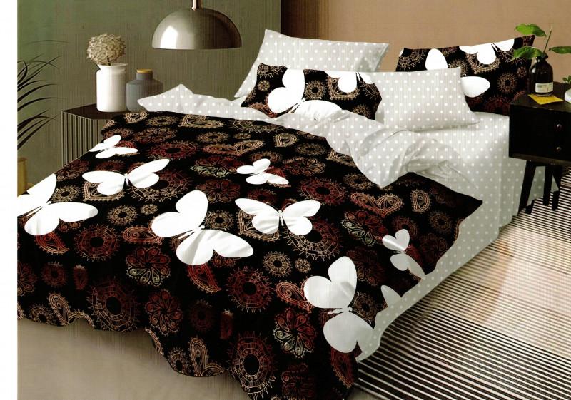 Lenjerie de pat din bumbac, ELVO, pentru 2 persoane, 4 piese, Ralex Pucioasa - Noemi