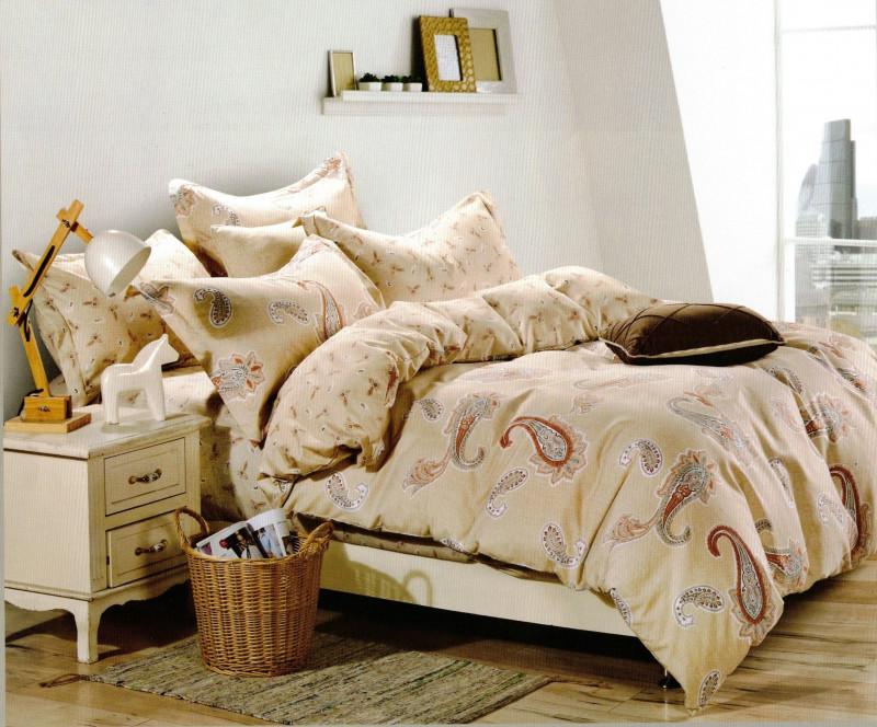 Lenjerie de pat din bumbac satinat pentru 1 persoana, cu 3 piese - Delia