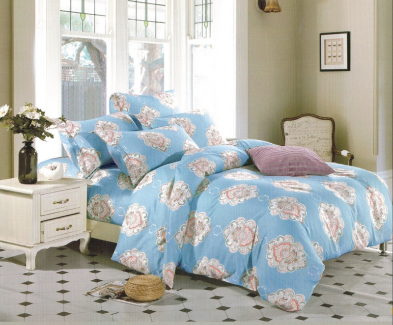 Lenjerie de pat din bumbac satinat pentru 1 persoana, cu 3 piese - Julia