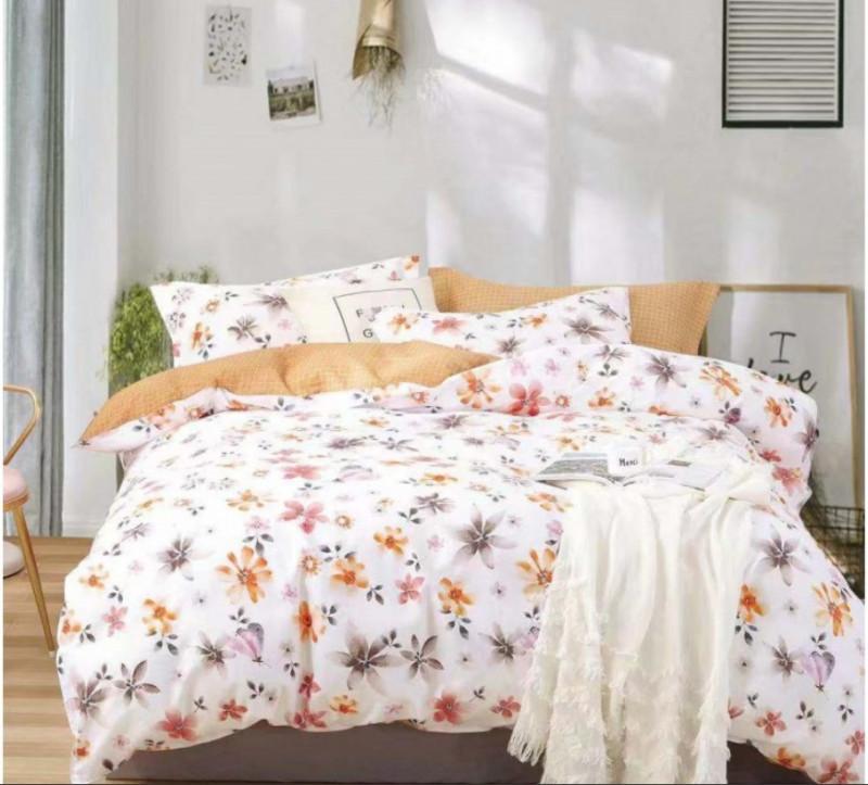 Lenjerie de pat dublu din bumbac 100% pentru 2 persoane - Jenna