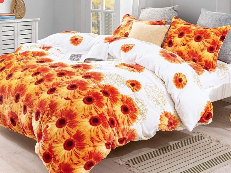 Lenjerie de pat pufoasa cocolino pentru 2 persoane, cu 4 piese Casa New Concept - Carla