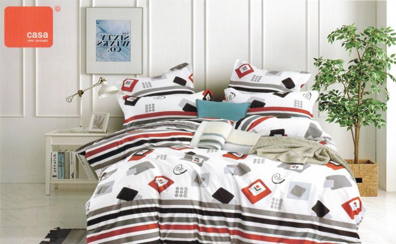 Lenjerie de pat Satin, Casa New concept, pentru 2 persoane, bumbac satinat, cu 4 piese - Medeea