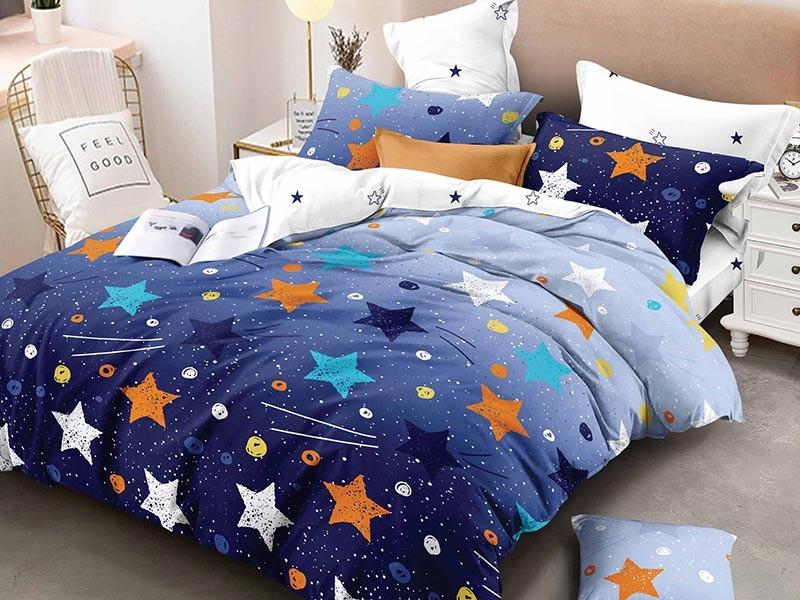 Lenjerie de pat pentru 2 persoane din bumbac satinat, Pucioasa, L'atelier Creatif, cu 4 piese - Noemi