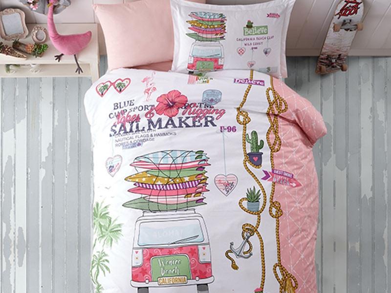 Lenjerie de pat pentru copii - Clasy, din bumbac 100% - Raisa