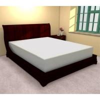 Cearceaf de pat cu elastic din bumbac, 140x210 cm (alb) Ralex Pucioasa