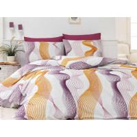 Lenjerie de pat pentru 1 persoana, 3 piese, Bahar Majoli, din bumbac 100% Ranforce - Celina