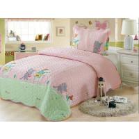 Cuvertura de pat din bumbac pentru copii, 1 persoana, cu 2 piese - Lenna