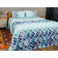Cuvertura de pat dublu, matlasata, reversibila, pentru 2 persoane, cu 3 piese din bumbac 100%, Majoli - Rahela