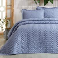 Cuvertura de pat dublu, matlasata, reversibila, pentru 2 persoane, cu 3 piese din bumbac 100%, Ralex Pucioasa - Clasy - Lorina