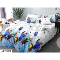 Lenjerie de pat bumbac finet (cearceaf cu elastic 180x200 cm), cu 6 piese, pentru 2 persoane, L'atelier Creatif Pucioasa - Lisa