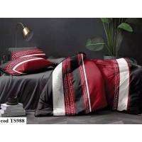Lenjerie de pat bumbac finet, cu 6 piese, pentru 2 persoane, L'atelier Creatif Pucioasa - Luana