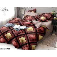 Lenjerie de pat bumbac finet, cu 6 piese, pentru 2 persoane, L'atelier Creatif Pucioasa - Tessa