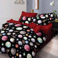 Lenjerie de pat bumbac finet, pentru 2 persoane, cu 6 piese, Ralex Pucioasa - Maria