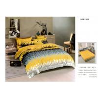 Lenjerie de pat bumbac finet, pentru 2 persoane, cu husa elastica pentru saltea 180x200 cm, 6 piese, Ralex Pucioasa - Lora