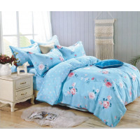 Lenjerie de pat din bumbac satinat pentru 1 persoana, cu 3 piese - Felicia