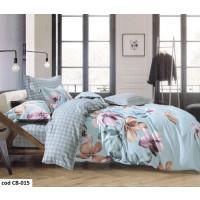 Lenjerie de pat dublu pentru 2 persoane din bumbac finet cu 6 piese - Maya