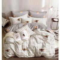 Lenjerie pentru pat dublu, 2 persoane, din bumbac satinat, cu 4 piese - Helen