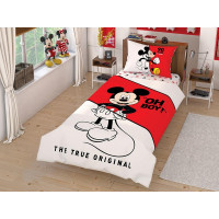 Lenjerie de pat pentru 1 persoana, 3 piese, TAC, din bumbac 100% - Mickey