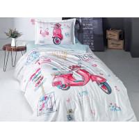 Lenjerie de pat pentru copii - Clasy, din bumbac 100% - Rut
