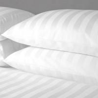 Set fete de perna 50x70 cm Damasc bumbac 100% albe