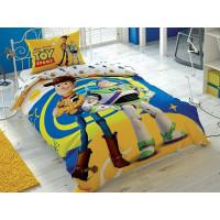 Lenjerie de pat pentru 1 persoana, 3 piese, TAC, din bumbac 100% - Toy Story