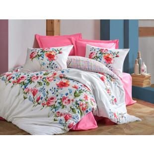 Lenjerie de pat pentru 2 persoane, 4 piese - Cotton box, din bumbac 100% - Amellia