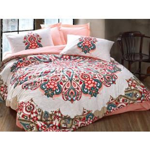Lenjerie de pat pentru 2 persoane, 4 piese - Cotton box, din bumbac 100% - Anemona