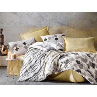 Lenjerie de pat Ranforce, pentru 2 persoane, 4 piese - Cotton box, din bumbac 100% - Bianca