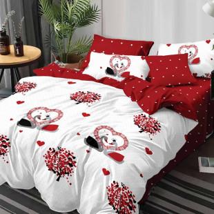 Lenjerie de pat din bumbac, ELVO, pentru 2 persoane, 4 piese, Ralex Pucioasa - Bianca