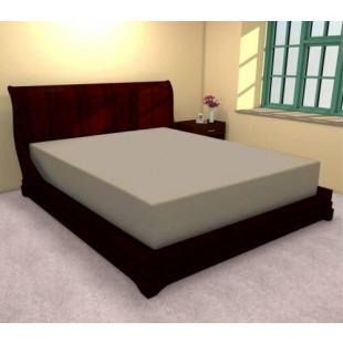 Cearceaf de pat cu elastic din bumbac, 90x200 cm (bej) Ralex Pucioasa
