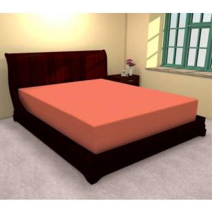Cearceaf de pat cu elastic din bumbac, 180x210 cm (portocaliu) Ralex Pucioasa