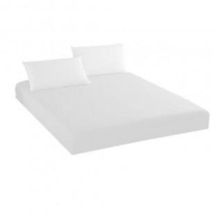 Cearceaf de pat din bumbac cu elastic, 140x210 cm cu 2 fete de perna, Ralex Pucioasa