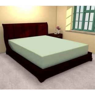 Cearceaf de pat verde cu elastic din bumbac, 160x210 cm, Ralex Pucioasa