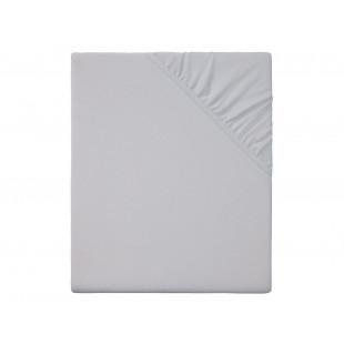 Cearceaf de pat cu elastic, 140x200 cm gri Meradiso