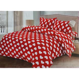 Lenjerie de pat cocolino, pufoasa, pentru 2 persoane, cu 4 piese - Renata