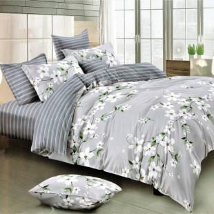 Lenjerie de pat din bumbac, ELVO, pentru 2 persoane, 4 piese, Ralex Pucioasa - Cristina