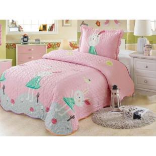 Cuvertura de pat din bumbac pentru copii, 1 persoana, cu 2 piese - Miruna