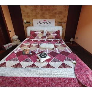 Cuvertura de pat din bumbac pentru pat dublu 2 persoane, cu 3 piese - Amelia