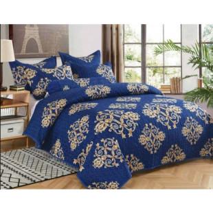 Cuvertura de pat din bumbac pentru pat dublu. 2 persoane, cu 3 piese - Gina