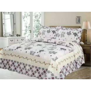 Cuvertura de pat din bumbac pentru pat dublu. 2 persoane, cu 3 piese - Hanna