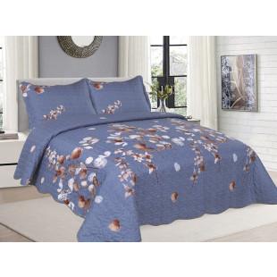 Cuvertura de pat din bumbac pentru pat dublu. 2 persoane, cu 3 piese - Helen