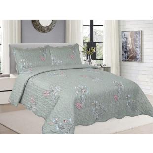 Cuvertura de pat din bumbac pentru pat dublu. 2 persoane, cu 3 piese - Helene