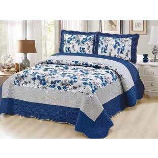 Cuvertura de pat din bumbac pentru pat dublu. 2 persoane, cu 3 piese - Jenna