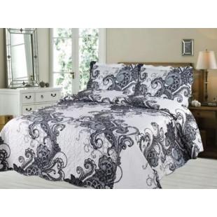 Cuvertura de pat din bumbac pentru pat dublu. 2 persoane, cu 3 piese - Lora
