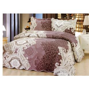Cuvertura de pat din bumbac pentru pat dublu. 2 persoane, cu 3 piese - Mara