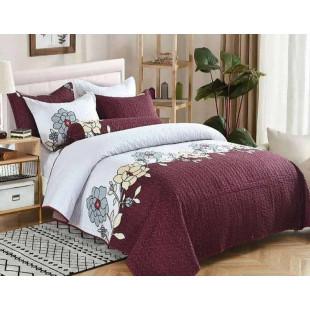 Cuvertura de pat din bumbac pentru pat dublu. 2 persoane, cu 3 piese - Maria