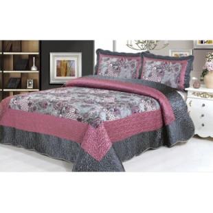 Cuvertura de pat din bumbac pentru pat dublu. 2 persoane, cu 3 piese - Marina