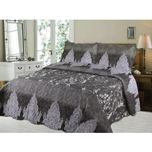 Cuvertura de pat din bumbac pentru pat dublu. 2 persoane, cu 3 piese - Olivia