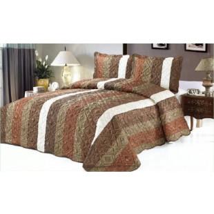 Cuvertura de pat din bumbac pentru pat dublu. 2 persoane, cu 3 piese - Seraia