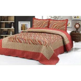Cuvertura de pat din bumbac pentru pat dublu. 2 persoane, cu 3 piese - Sonia